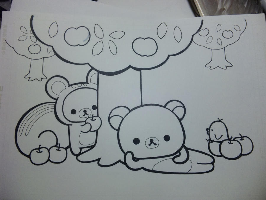 Pin rilakkuma color colouring pages genuardis portal on for Rilakkuma coloring pages