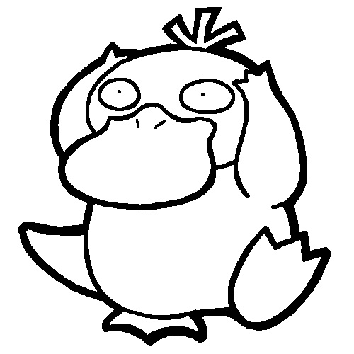 Pokemon Psyduck Coloring Pages Coloring Pages