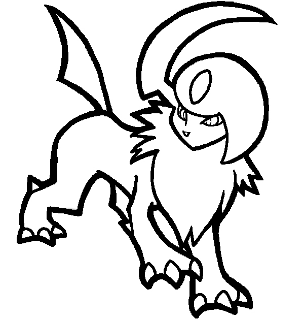 coloring pages absol - photo#2