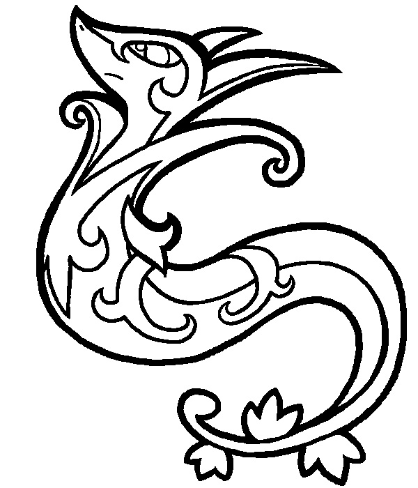 snivy serperior coloring pages - photo#2