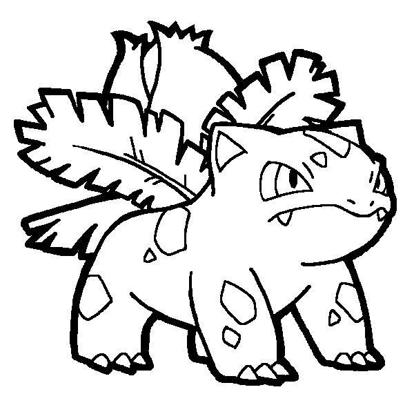 ivysaur coloring pages