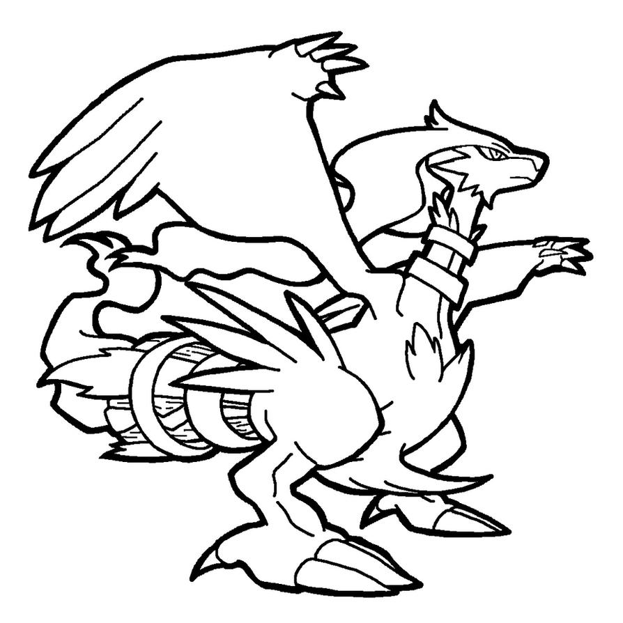 Pokemon coloring pages of zekrom - Reshiram Lineart By Yumezaka On Deviantart How To Draw How To Draw Pokemon Reshiram Solution For How To For Dummies Coloring Pages