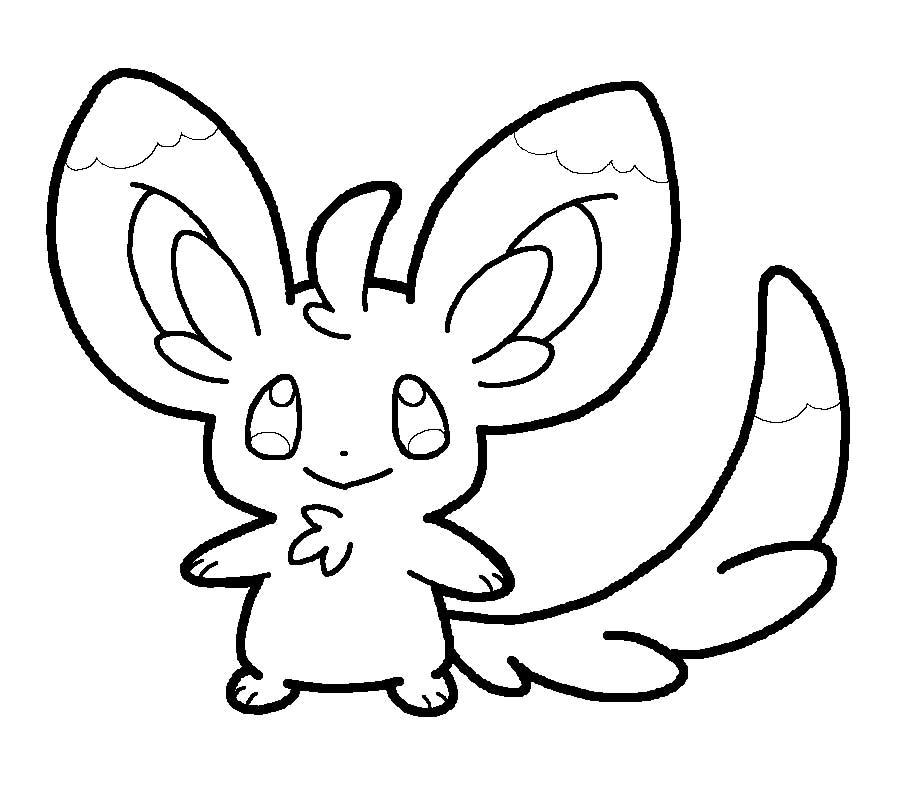 pokemon coloring pages minccino - photo#6