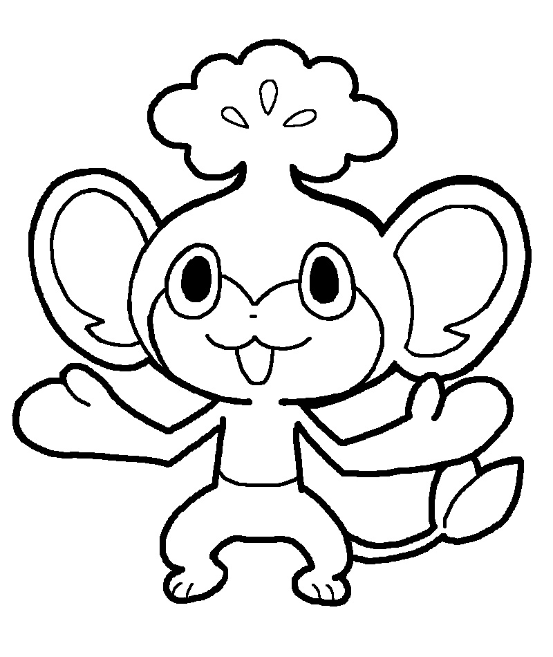 pokemon pansage coloring pages - photo #7