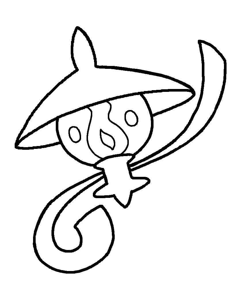 pokemon litwick coloring pages - photo#10