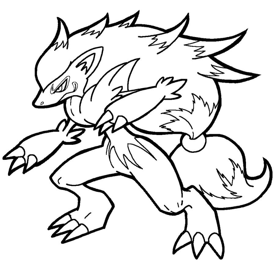 Pokemon Zorua Coloring Pages Images