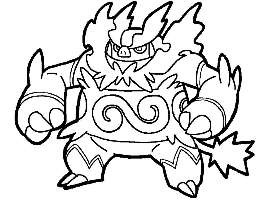 Pokemon Emboar Coloring Pages Images   Pokemon Images