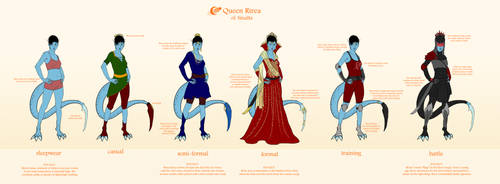 Queen Rirea Outfits by Silvre