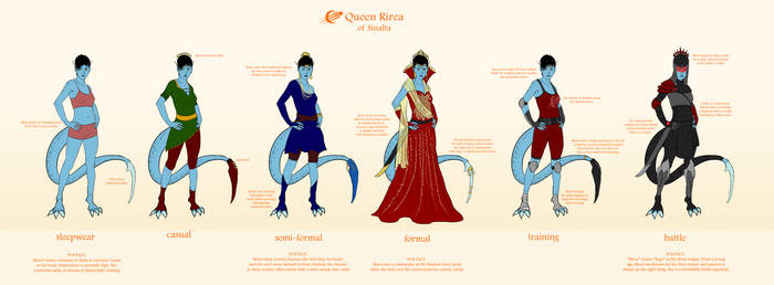 Queen Rirea Outfits