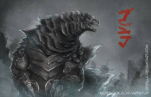 Godzilla Speedpaint by jpzilla