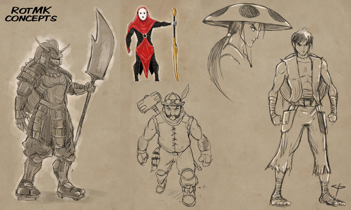 Ronin of the Mushroom Kingdom - Character Concepts by jpzilla