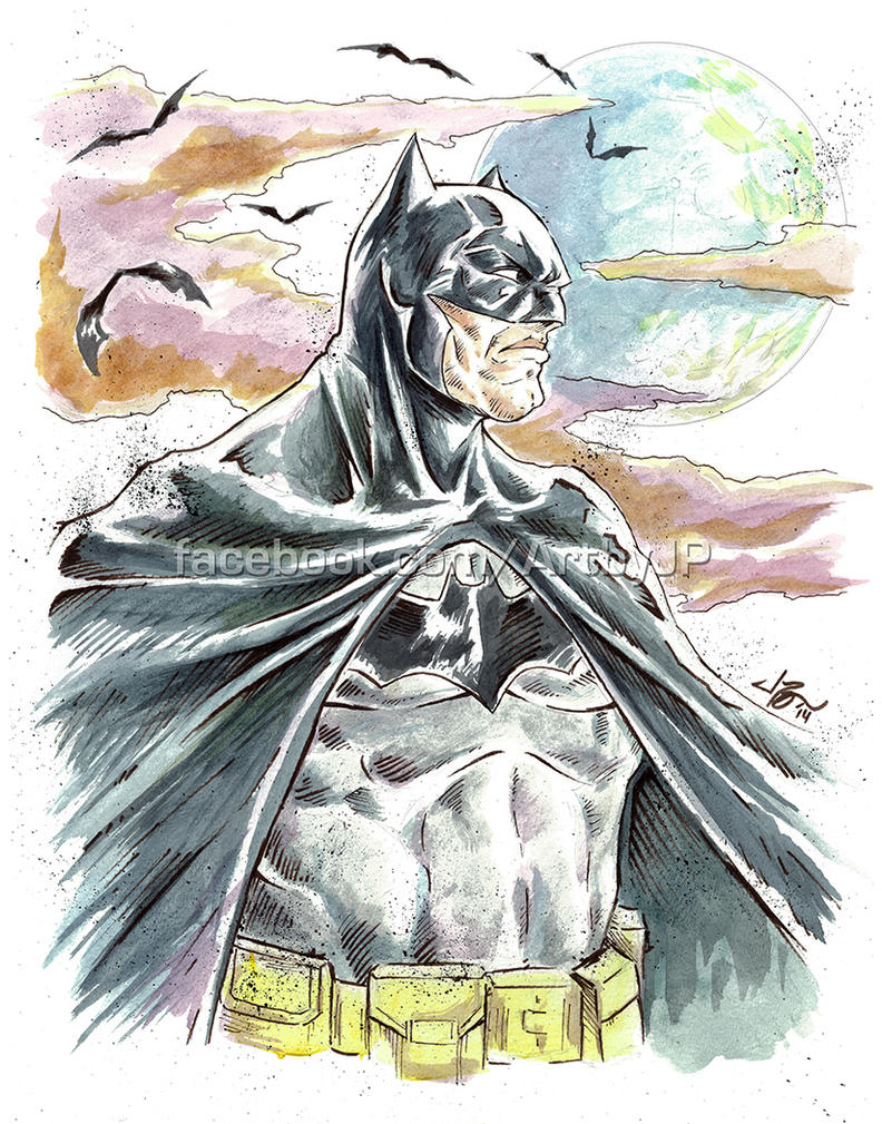 Batman - watercolor set by jpzilla