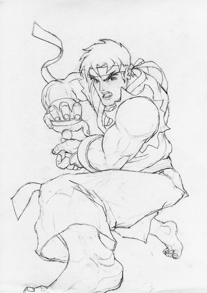 J p 39 s art stash shoryuken for Ryu coloring pages