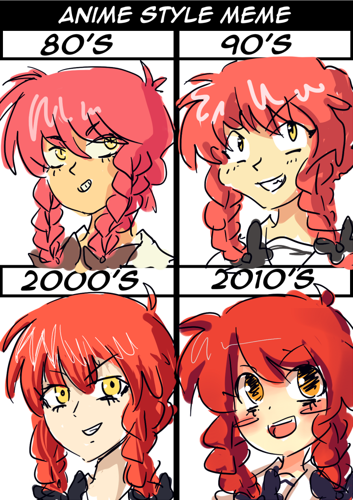 THE EVOLUTION OF ANiME By J5-daigada On DeviantArt