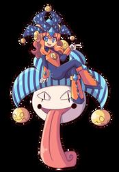 Commish - Clowngirl.exe by J5-daigada