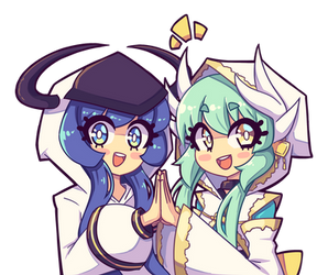Commission - Orie and Kiyohime