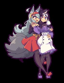 Commission - Luna and Sukunahime