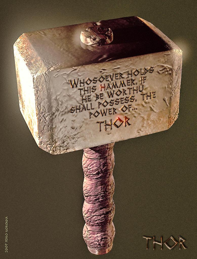 thor s hammer mjollnir by pedroqn on deviantart