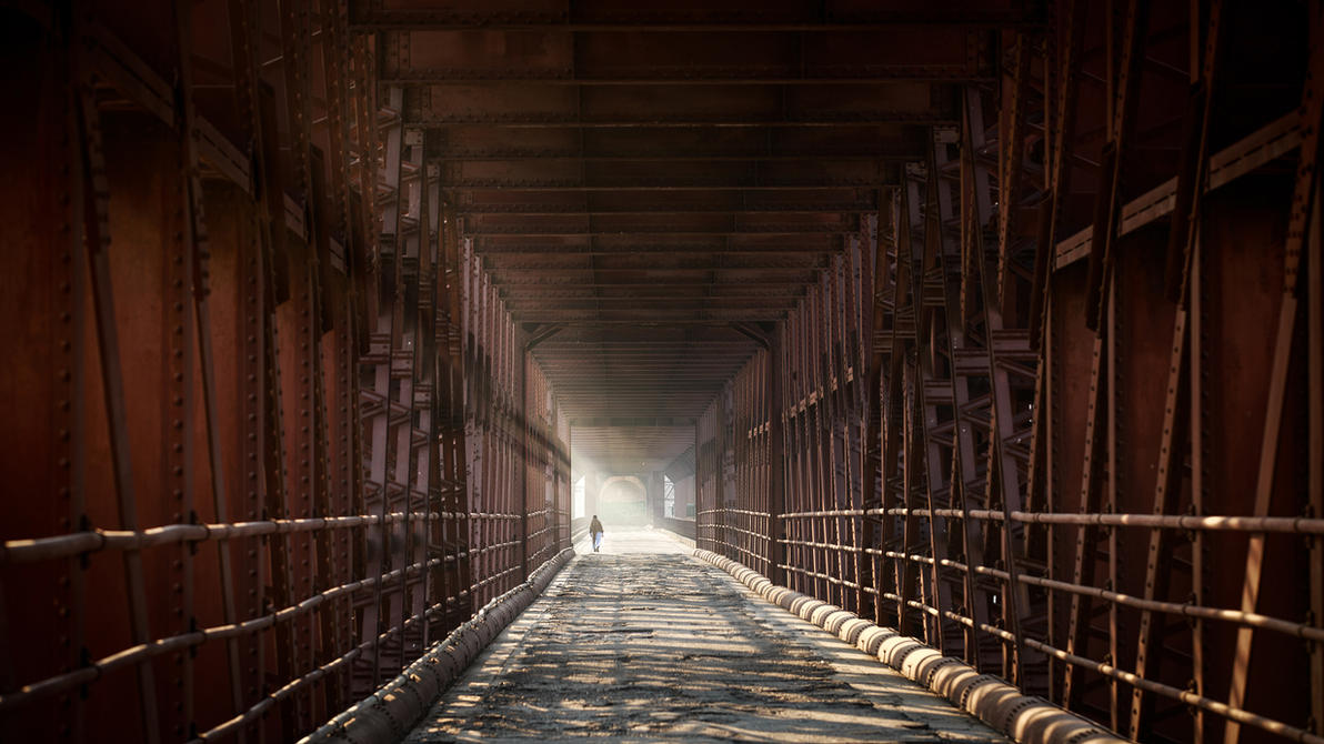 Under The Old Attock Bridge by ZaGHaMi