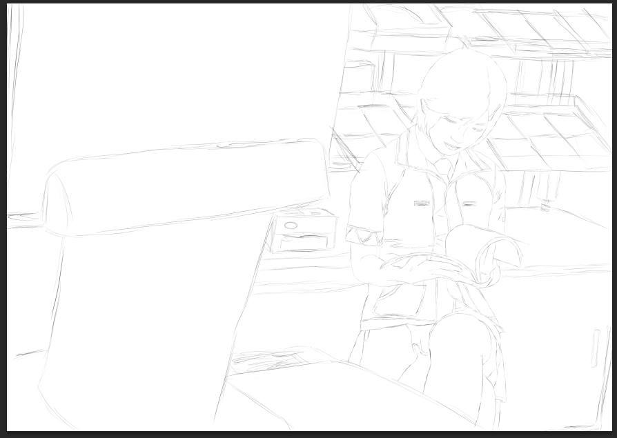 Sketch Girl by Squidgybuffalo