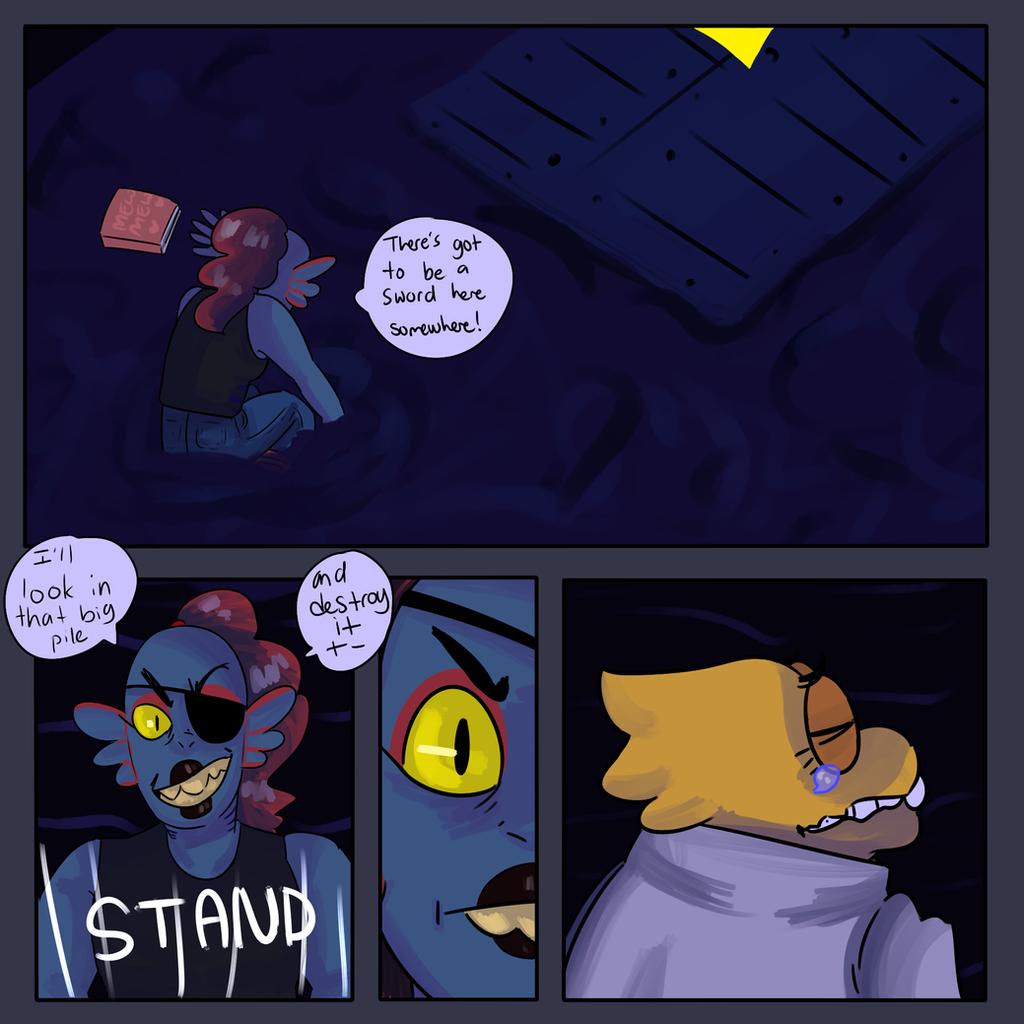 Alphys and Undyne Comic by KatsLoveSalmon