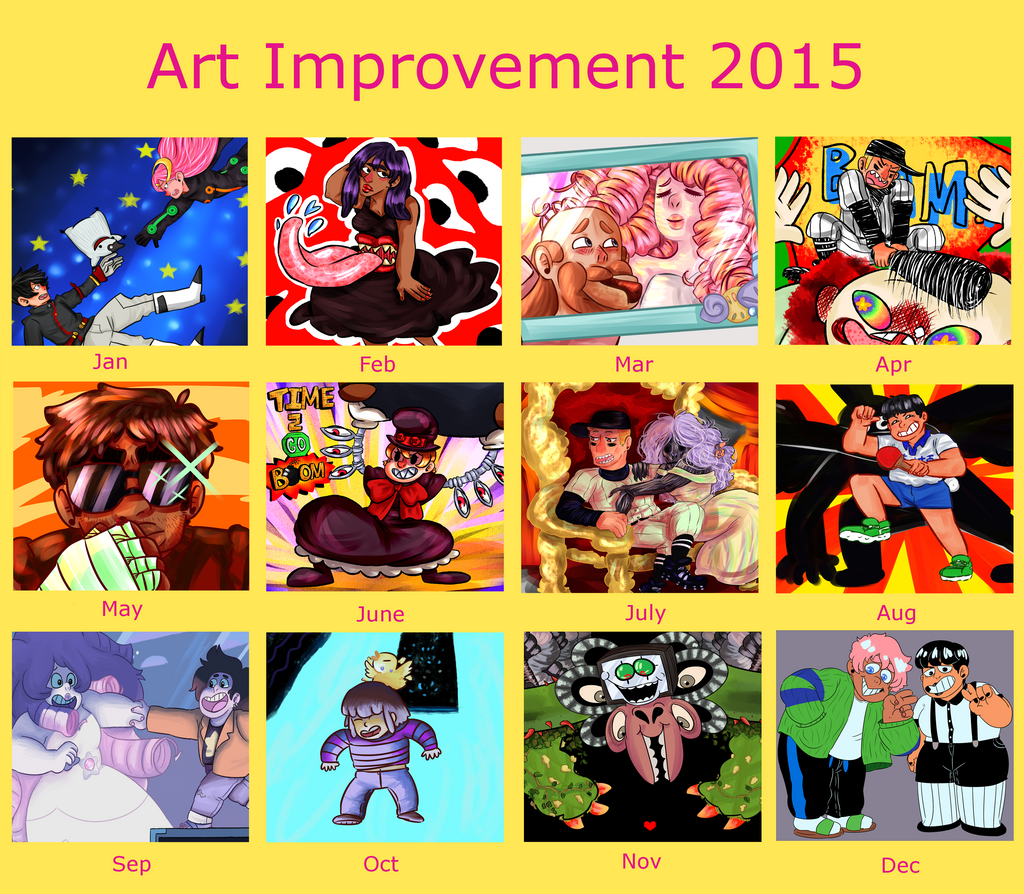 Art Improvement 2015 by KatsLoveSalmon