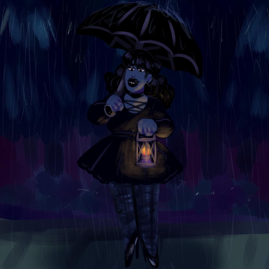 Cold, Rainy Night by KatsLoveSalmon