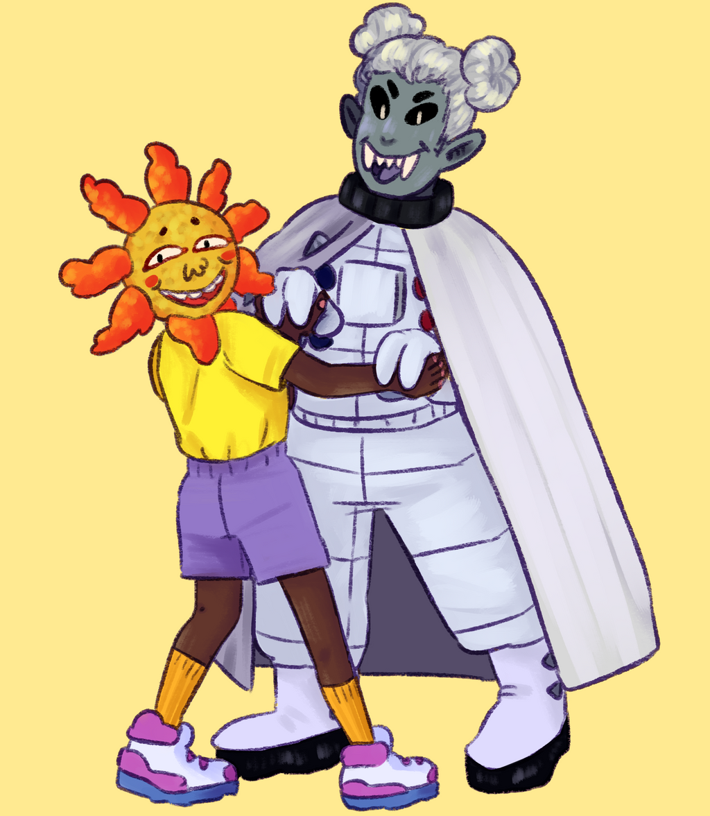Agnes and Sol by KatsLoveSalmon
