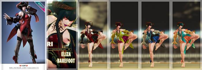 [SFV REQ MOD] Juri as Eliza from TK7 Barefoot