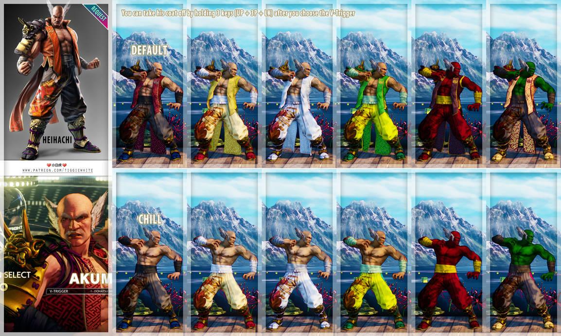 SFV REQ MOD] Akuma as Heihachi Mishima - Tekken7 by