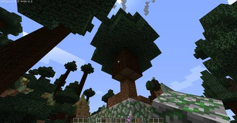 Rail-X5: World Gen Fail - Spruce Tree
