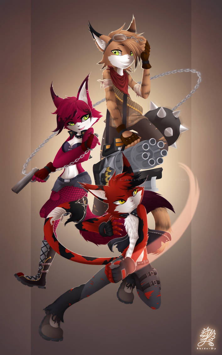 .:Hero Force The Cats :. by Shide-Dy