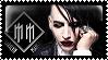 Marilyn Manson stamp by sequelle