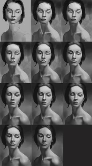 Girl Portrait Process - Keep pushing
