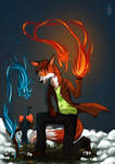 Fire equals sparks  by Hocrea