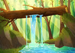 Waterfall by Hocrea