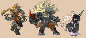 dwarves by aalbaich