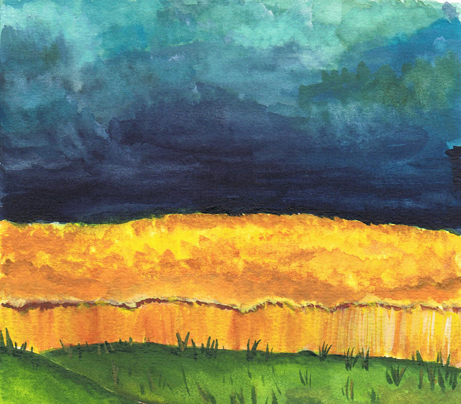 Grainfield in storm by Milana87
