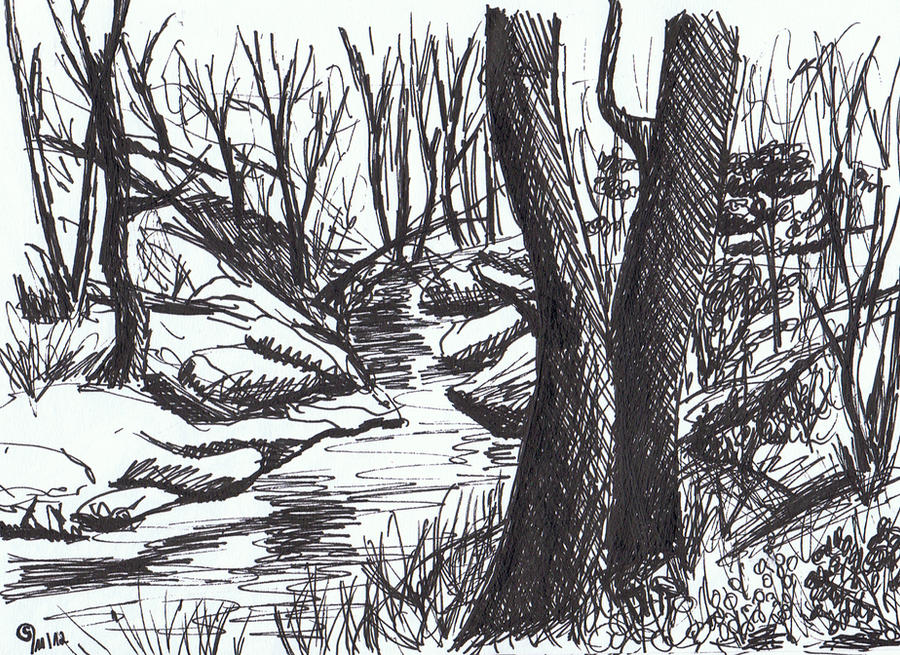Sketch - Forest by Milana87