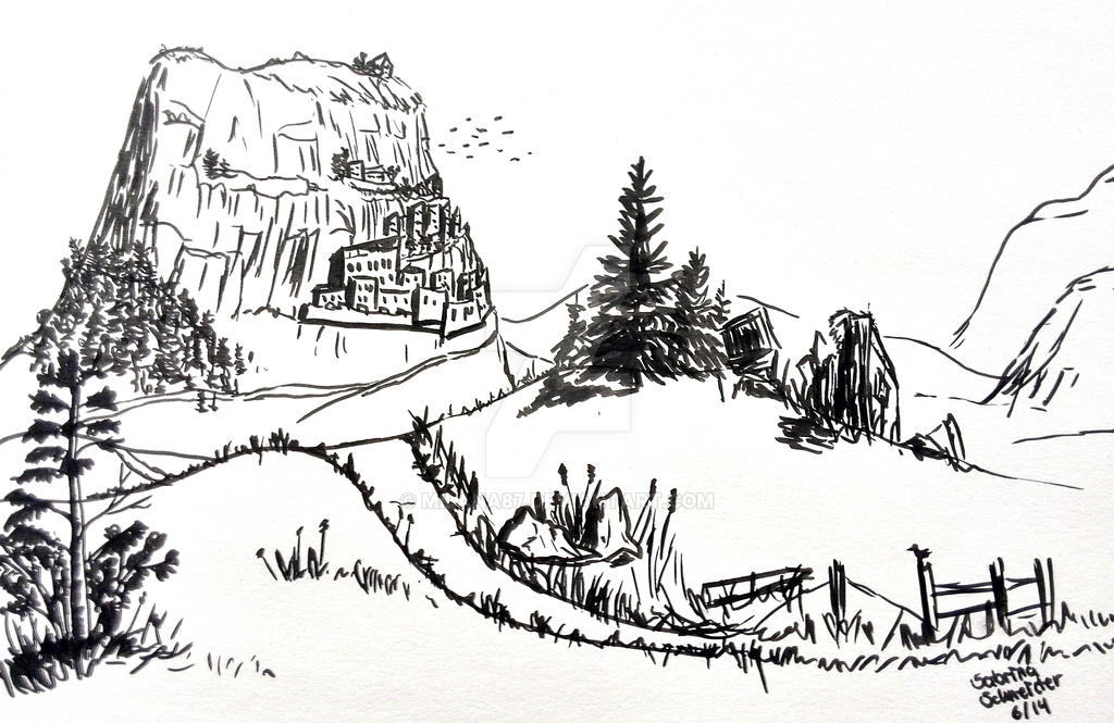 Landscape - Sketch by Milana87