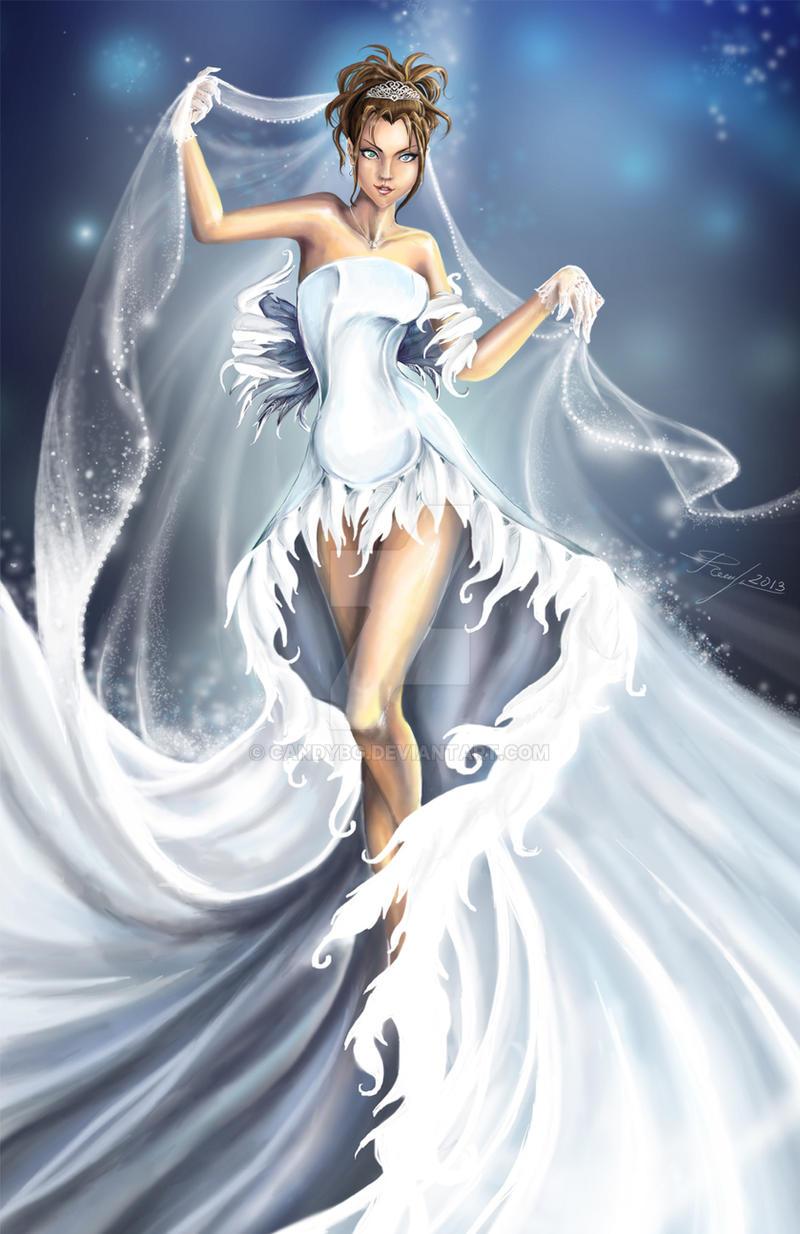 Yuna Wedding Dress by candybg on DeviantArt