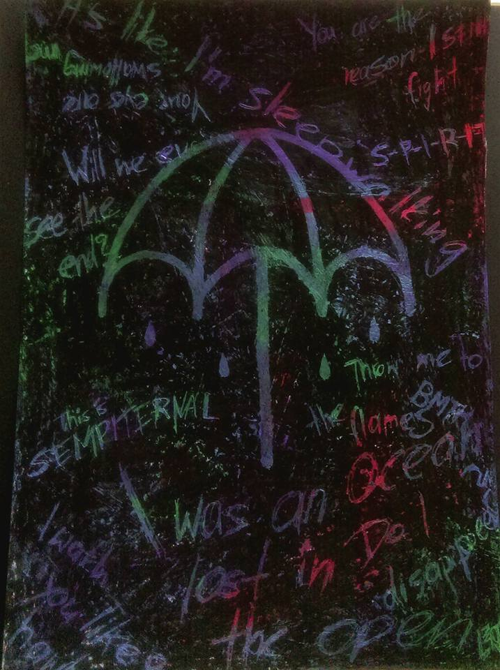 BMTH Umbrella With Crayons By Peripeteia8