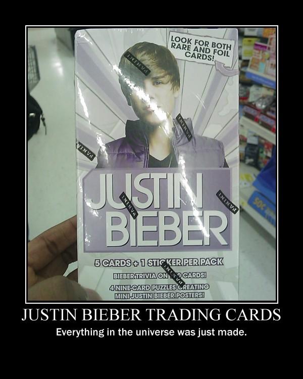 Justin Bieber Trading Cards. by Dragunov-EX