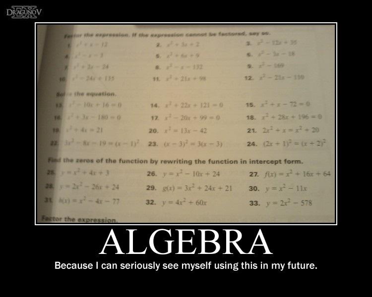 Algebra -demotivation- by Dragunov-EX