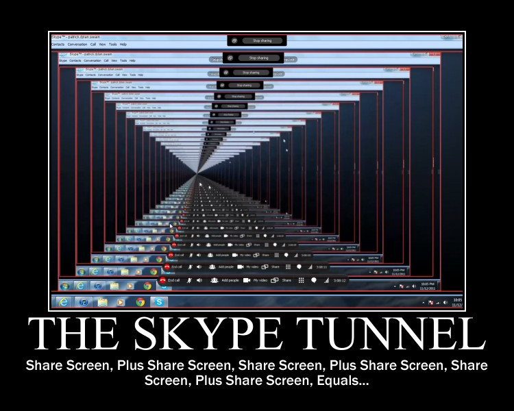 The Skype Tunnel -demotivation- by Dragunov-EX