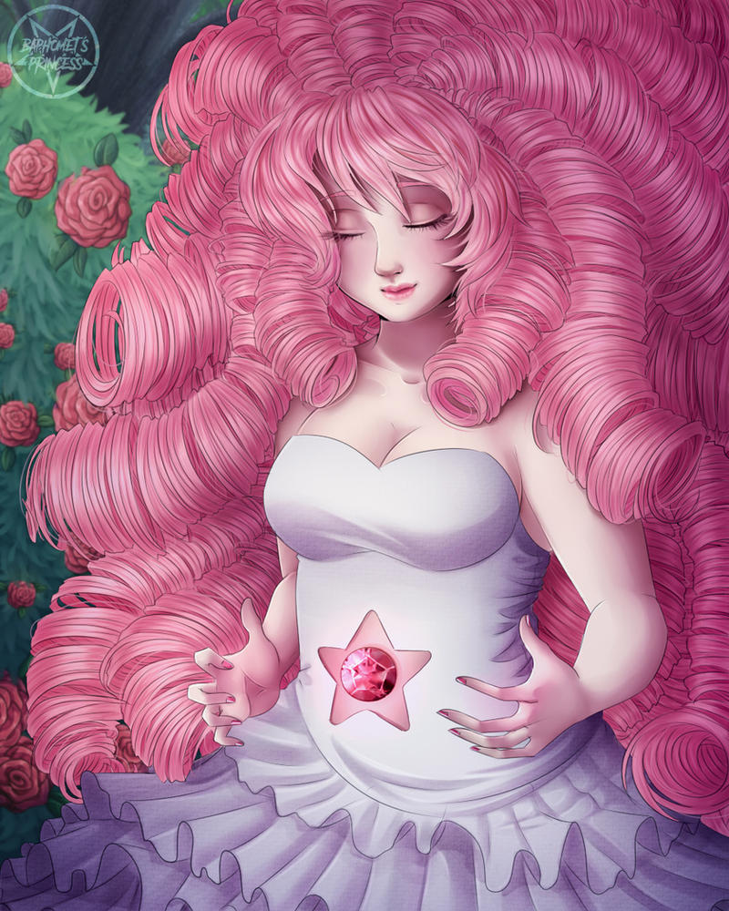 SPEEDPAINT Pink mom! Steven Universe is my favorite serie in this moment Rose is sooooo beautiful   Fanart by © Princess-of-Baphomet