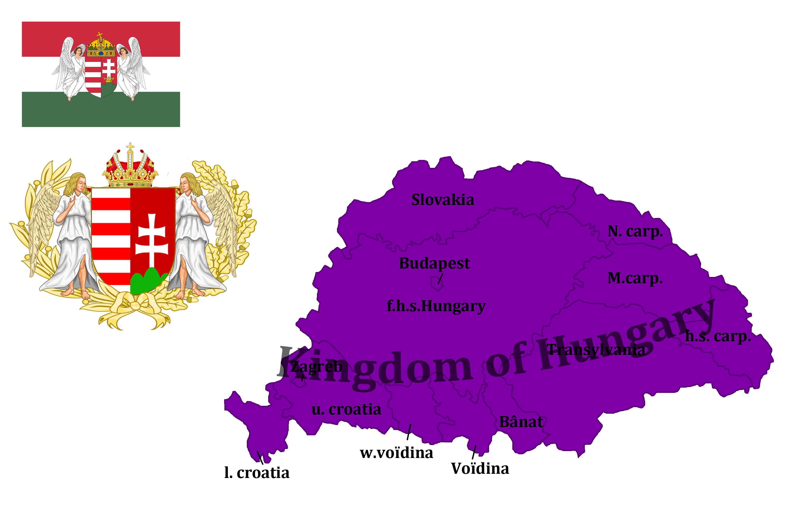 Kingdom of Hungary (mapping) by DimLordofFox