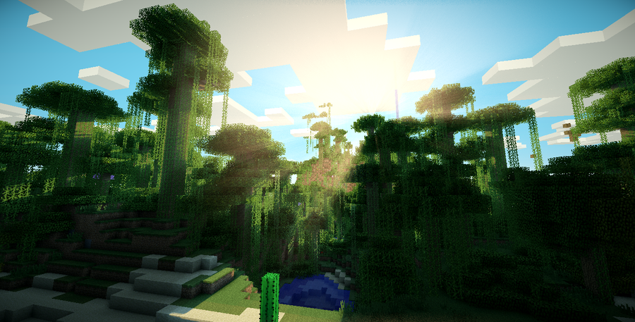 minecraft shade template - minecraft jungle by chrisyoshiman on deviantart