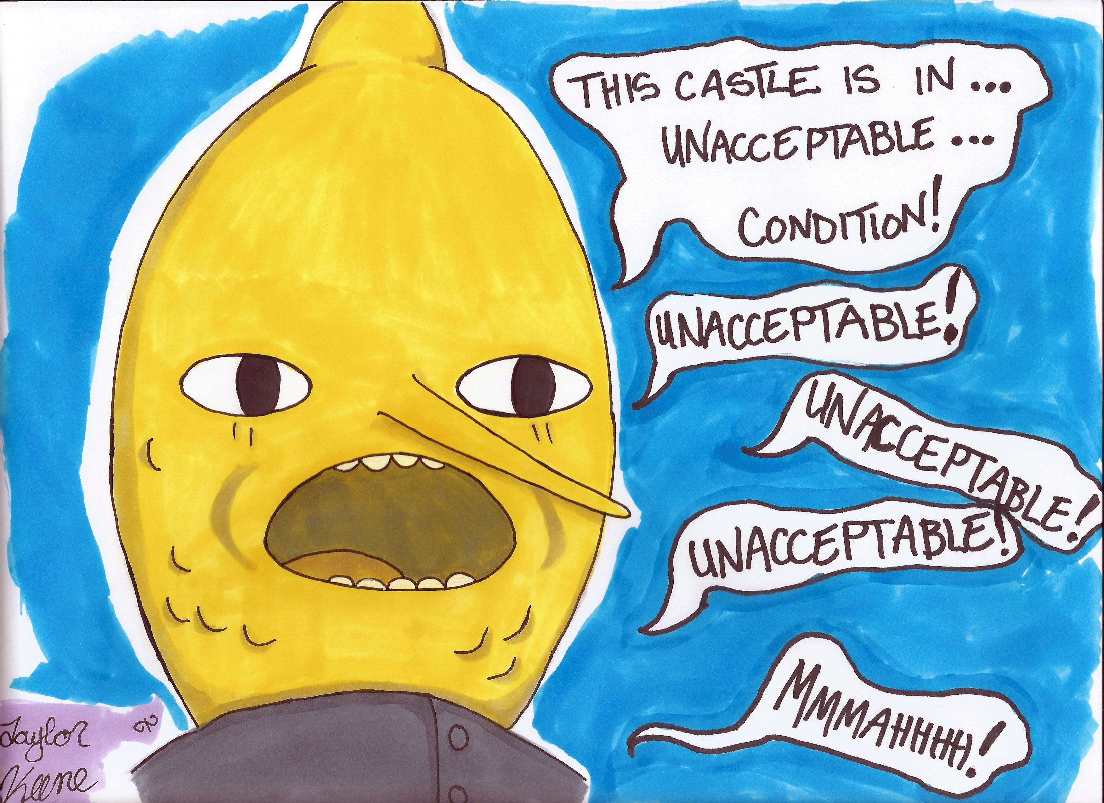 Lemongrab - Unacceptable by Elven-Jedi-X