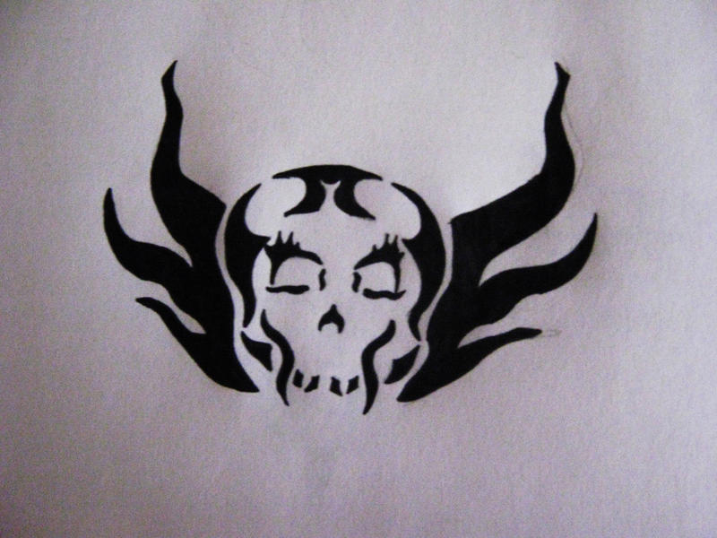 Tribal Fire Skull Tattoo by ~terramclover on deviantART